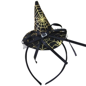 Halloween Witches Headband Hat