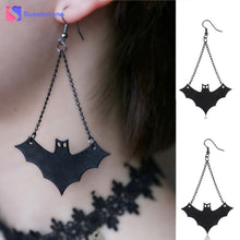 Load image into Gallery viewer, Halloween Bat Earrings