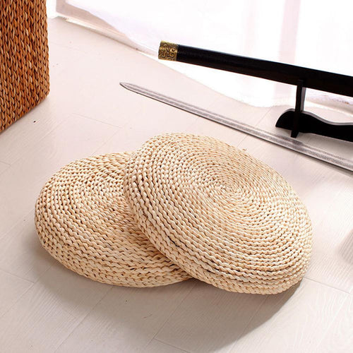 Natural Straw Meditation Cushion