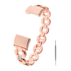 Replacement Watch Band For Fitbit Charge 2  Metal Rhinestone Adjustable Wristband Women Fashion Accessory