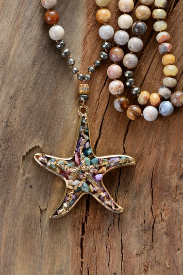 Vintage Starfish Pendant Necklace