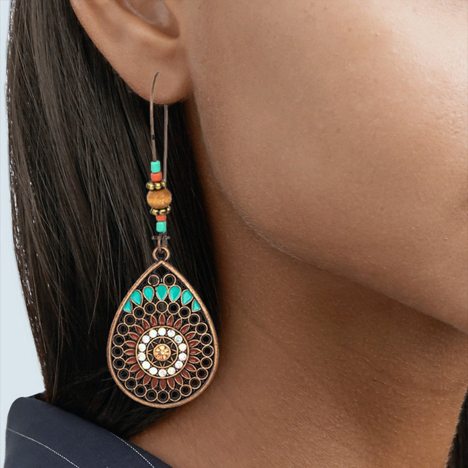 Vintage Boho Ethnic Earrings