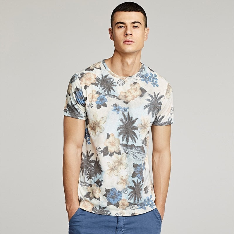 Floral Print Casual Tee