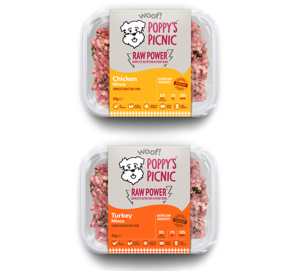 RAW POWER Chicken & Turkey (8 pack)