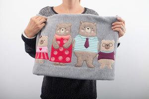 "Pătură fleece ""Bear family"""