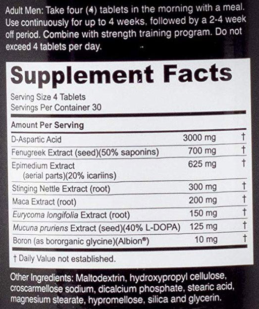 Nugenix Ultimate Ingredients