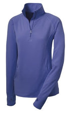 Load image into Gallery viewer, Ladies Sport-Wick Stretch 1/4 Zip Pullover