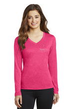 Load image into Gallery viewer, Ladies Long Sleeve Heather Contender™ V-Neck Tee