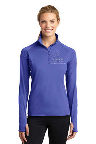 Ladies Sport-Wick Stretch 1/4 Zip Pullover