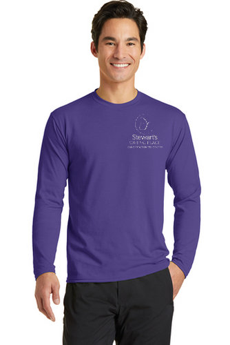 Unisex Long Sleeve Performance Blend Tee Shirt