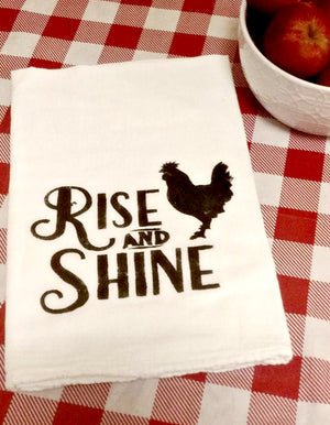 Rise and Shine Flour Sack Tea Towel