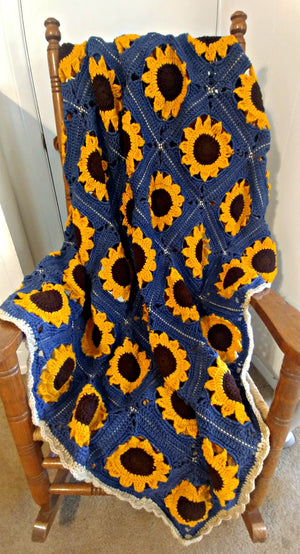 Sunflower Blanket - Denim Blue