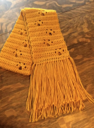 Paw Print Scarf - Gold