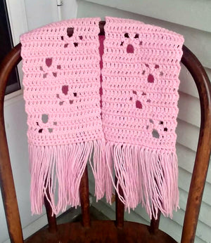 Paw Print Scarf - Pink - Small