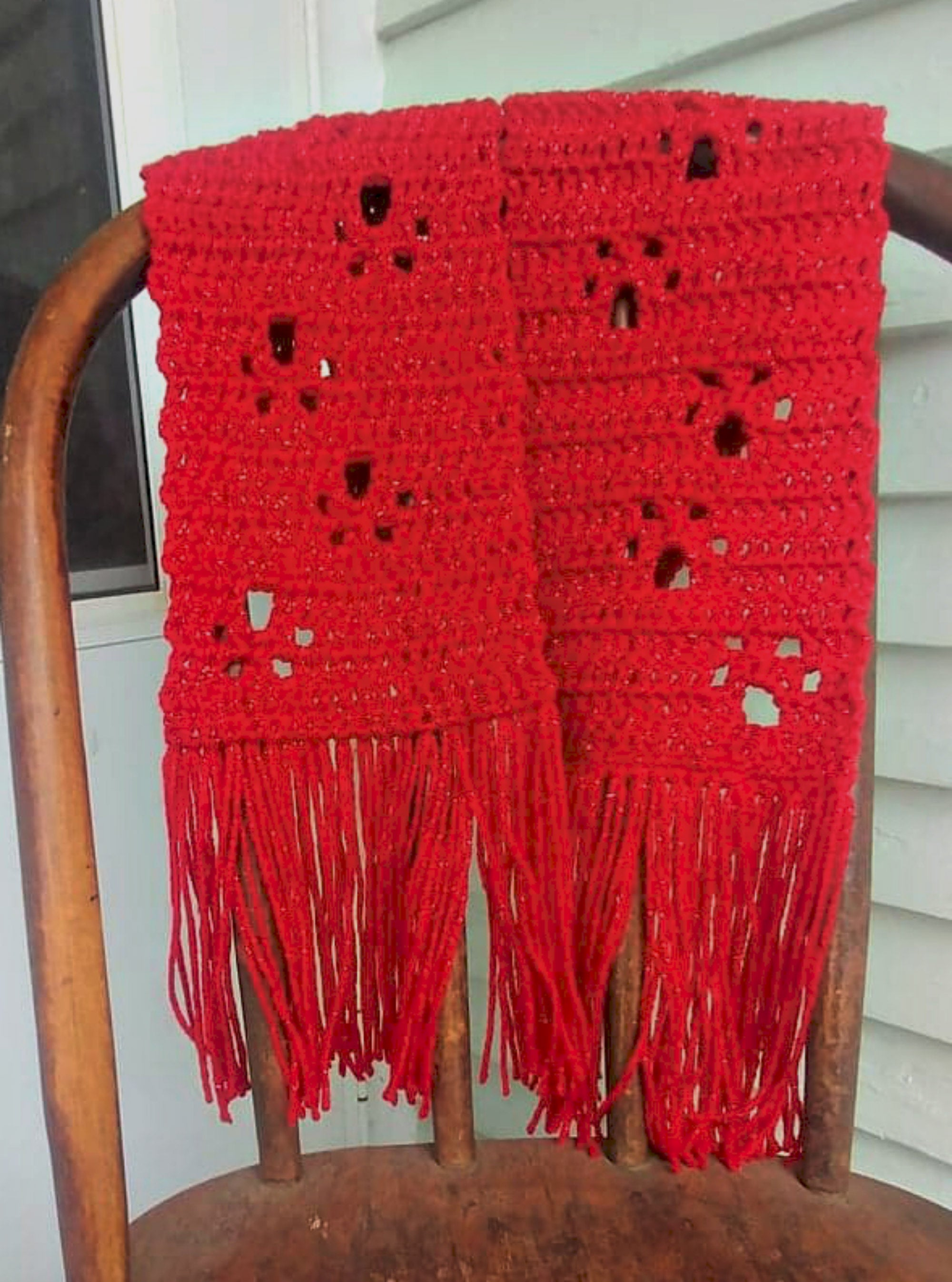 Paw Print Scarf - Red Sparkle - Small