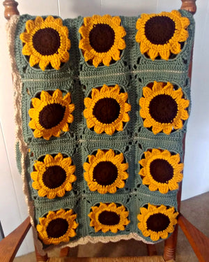 Sunflower Blanket - Green