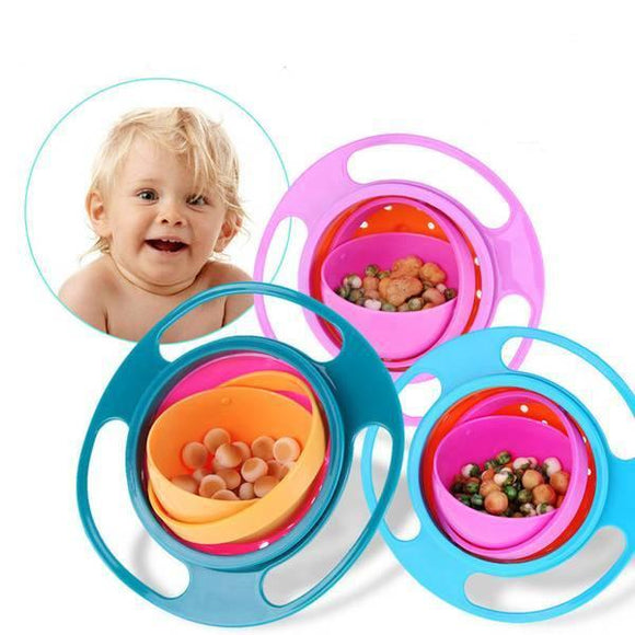 360 Degrees Gyroscopic No Spill Bowl .