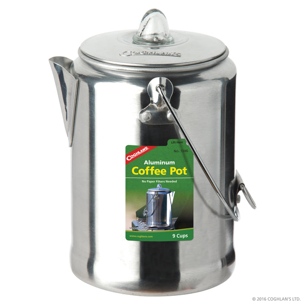 9 Cup Aluminum Coffee Pot