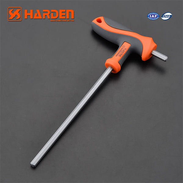 Harden Professional Hand Tool T-HANDLE Hand Tool Hex Key Wrench Set 6X150mm