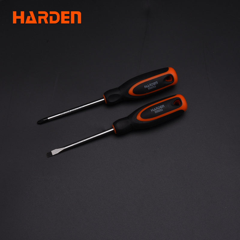Harden 2Pc Screwdriver Set *6x100mm, Ph2x100mm