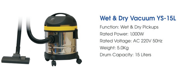 Histar Wet & Dry Vacuum Cleaner YS-15L