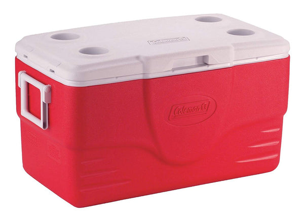 50QT WIDE BODY COOLER RED