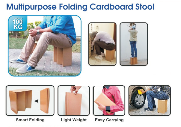Histar Multipurpose Folding Cardboard Stool