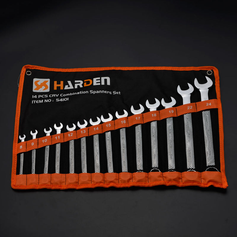 Harden 14Pcs Combination Spanner Set Size 8 - 24mm