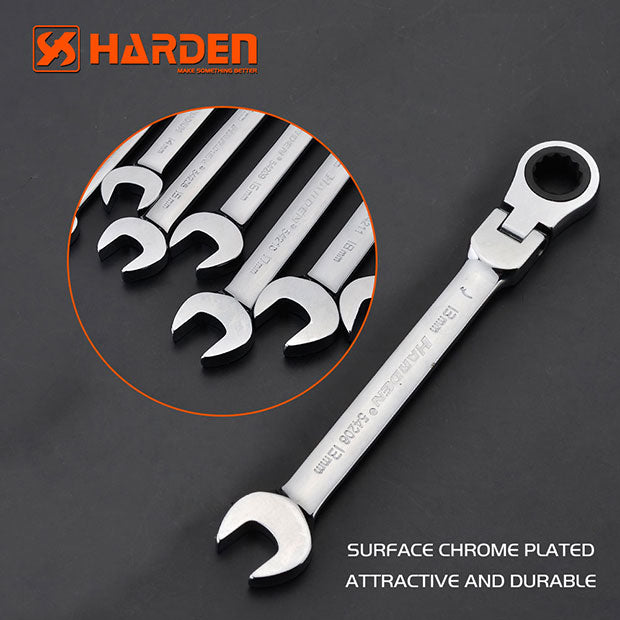Harden Flexible Ratchet Combination WrenchSize8mm