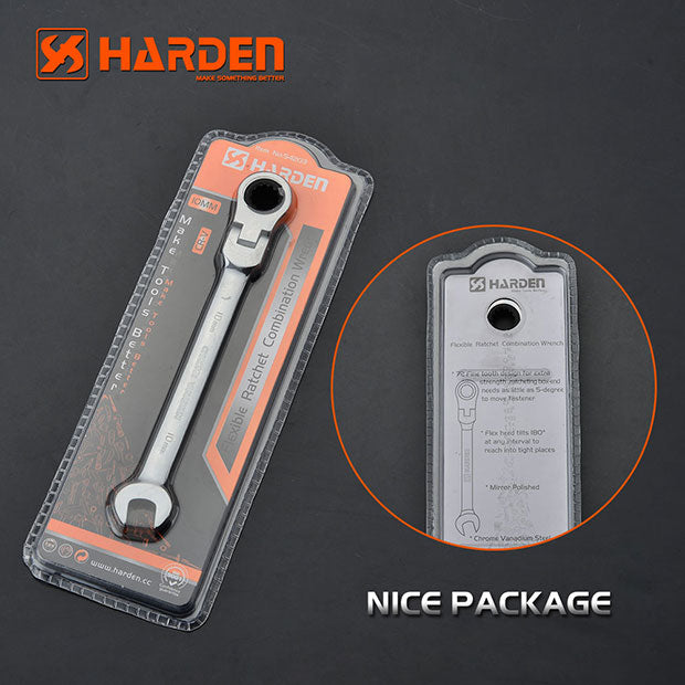 Harden Flexible Ratchet Combination WrenchSize9mm