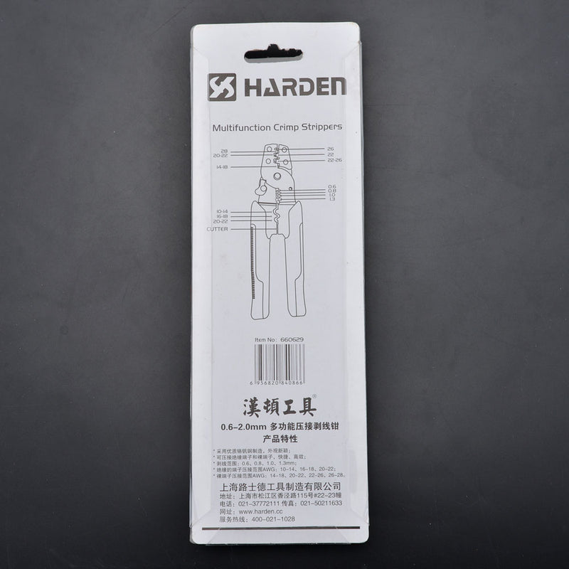 Harden Multi-function Crimp Strippers 0.6-2.0mm