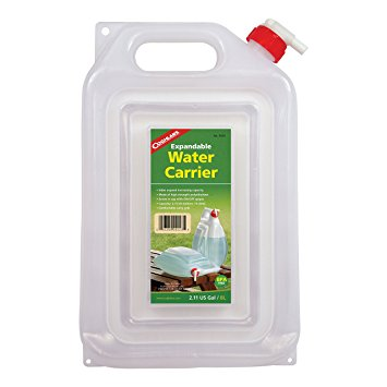 Expandable Water Carrier                                                      Capacity: 2 U.S. gal (7.57 L)