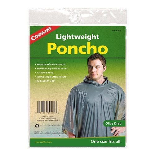 Olive Drab Lightweight Poncho