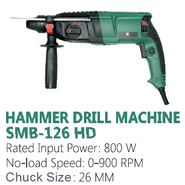 Sunmoon Hammer Drill Machine with accessories 800W