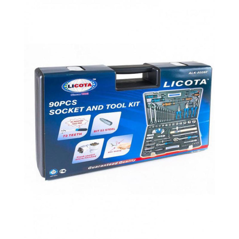 Licota 90Pcs Socket and Tools Set