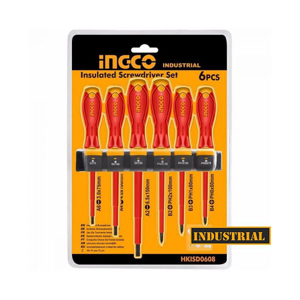 Ingco 6 PCS Insulated Screwdriver Set