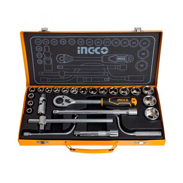 "Ingco 24Pcs 1/2"" socket set"