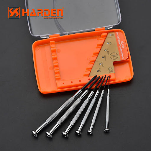 Harden 6pcs CRV Precision Screwdriver set