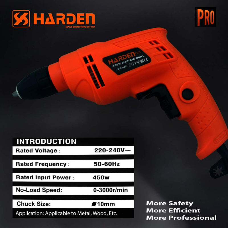 Harden Electric Drill 10mm 450W