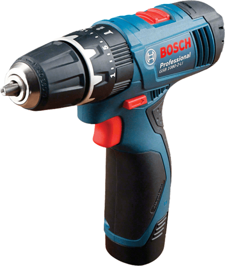 Bosch Cordless Percussion Driver Drill, 10mm, 10.8V, Li-ion, Extra Battery Included GSB1080-2 LI Professional