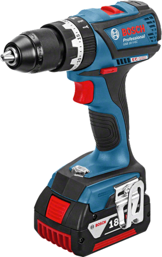 Bosch Cordless Percussion Driver Drill, 13mm, 18.0V, Brushless, Li-ion, Extra Battery Included, GSB18V-EC Professional