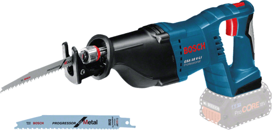 Bosch Cordless Reciprocating Saw, 18V, Extra Battery Included, GSA18V-LI Professional