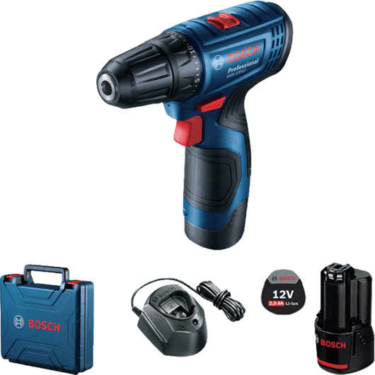 Bosch Cordless Driver/Drill, 10mm, 12V, Li-ion, Extra Battery Included, GSR120-LI Professional