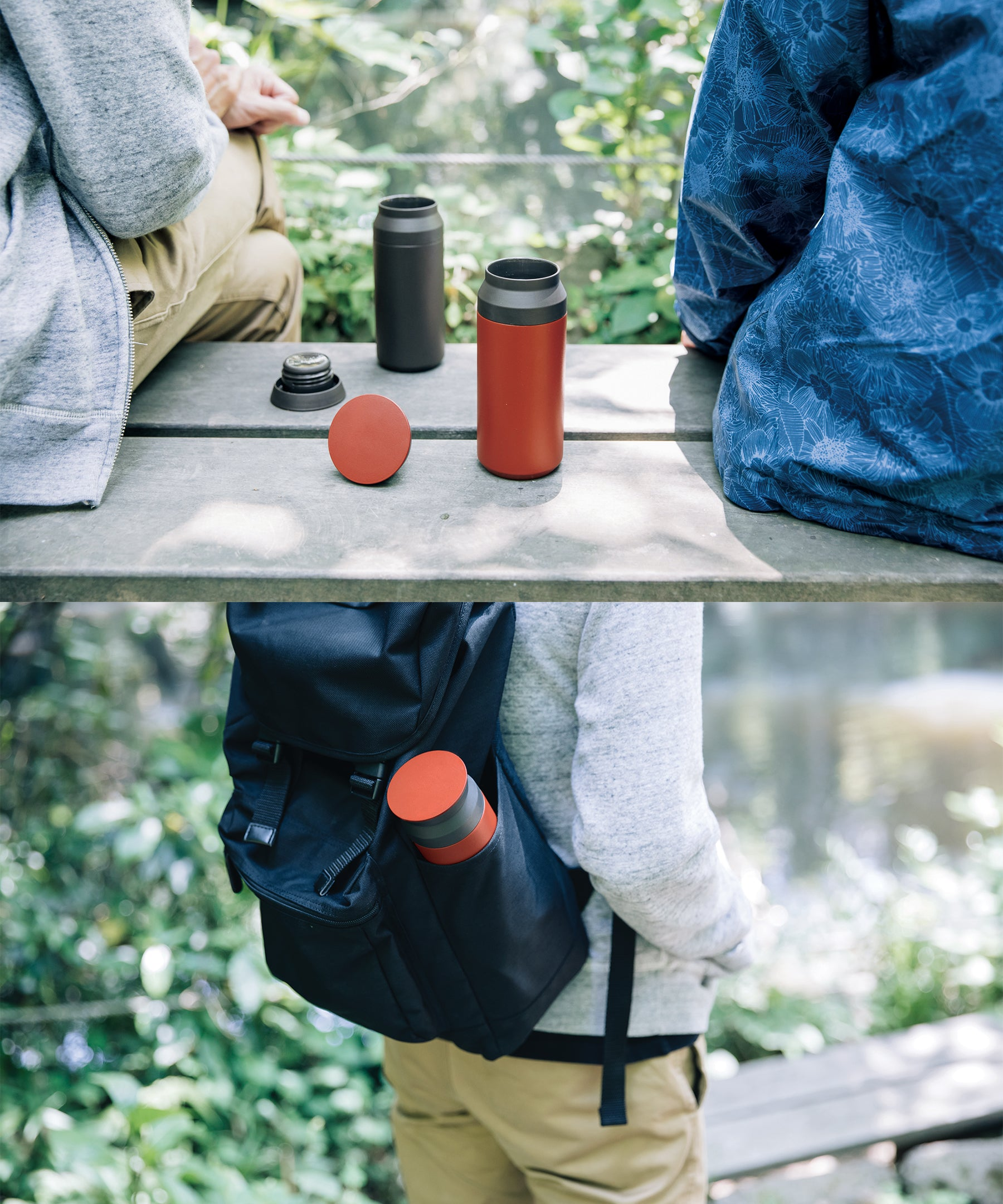 Traveller Tumbler 350ml (Red) by Kinto