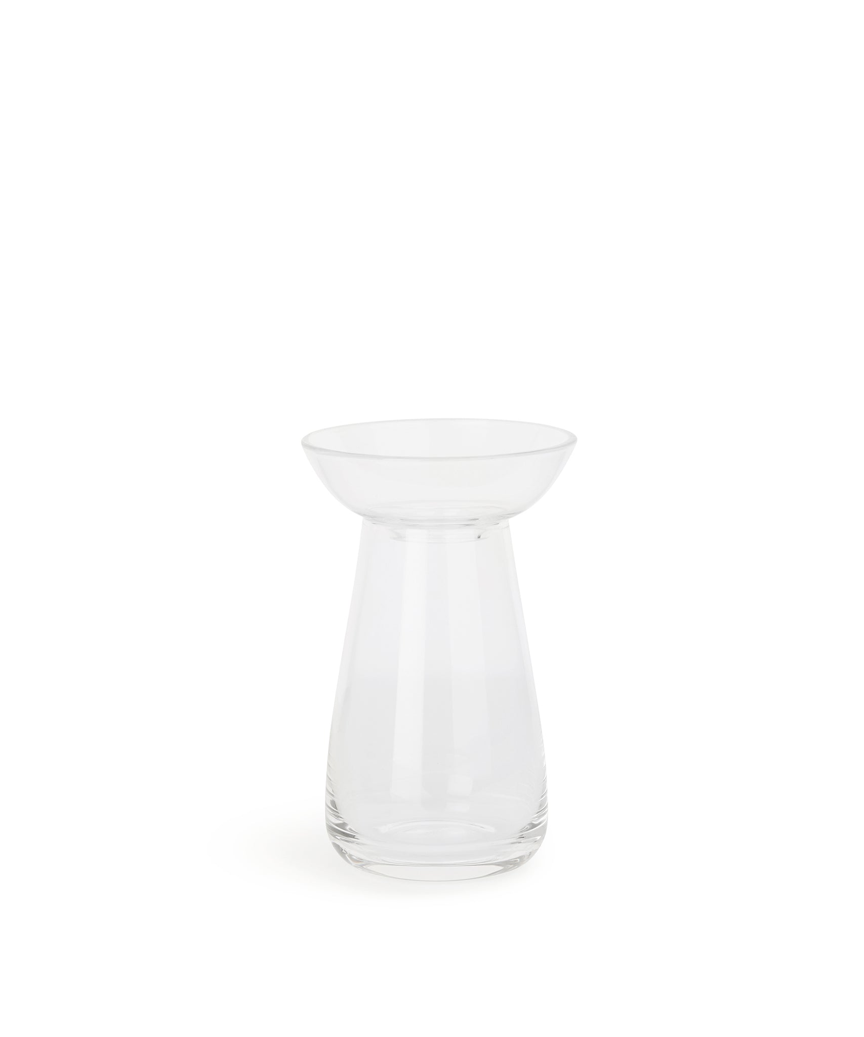 Aqua Culture Vase 130mm (Clear) by Kinto