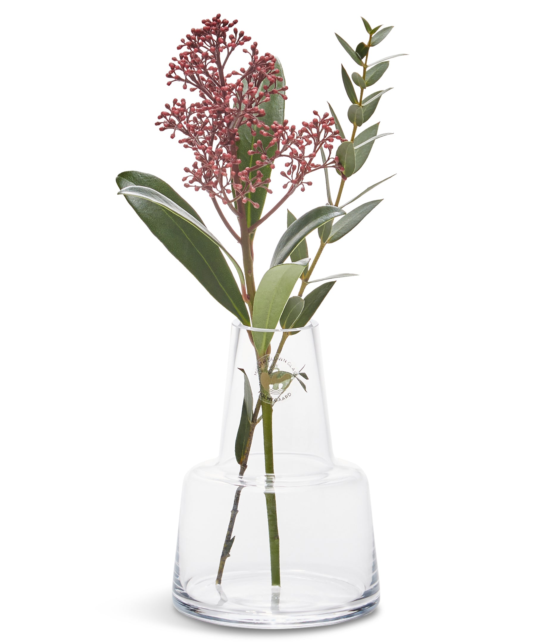 Flora Medium Neck Vase 120mm (Clear) by Holmegaard