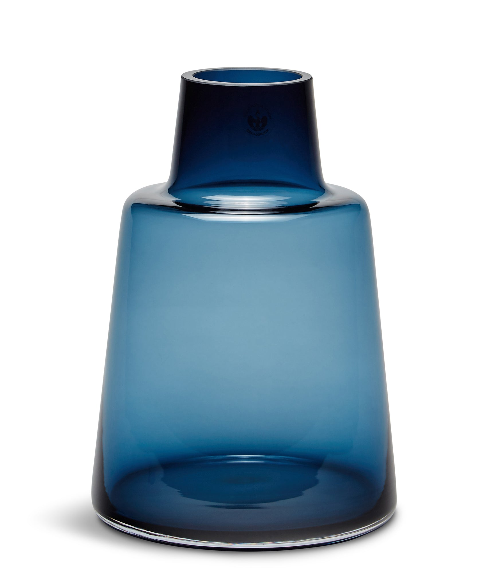 Flora Short Neck Vase 240 mm (Dark Blue) by Holmegaard