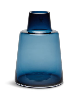 Flora Short Neck Vase 240 mm (Dark Blue) by Rosendahl