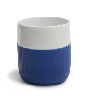 Fluted Contrast Mug (Mega Blue) by Royal Copenhagen