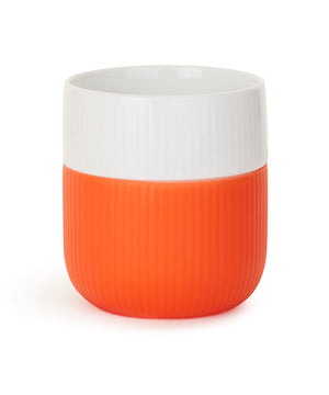 Fluted Contrast Mug (Poppy) by Royal Copenhagen